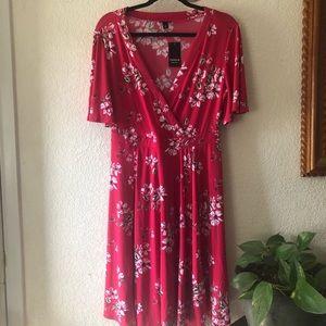 Torrid Pink Floral Dress